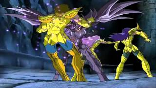 Saint Seiya AMV - Radamanthys vs Aioria Milo and Mu