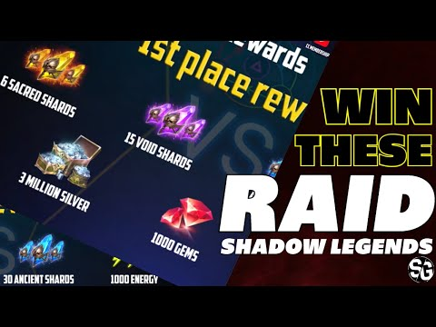 Win SACRED SHARDS & MORE! Raid shadow legends Tag team arena video guide contest