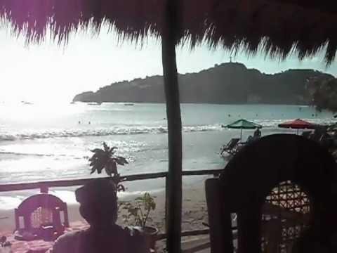 Eating lunch in San Juan del Sur, Nicaragua