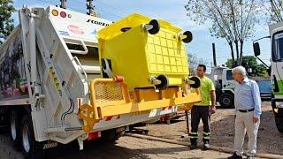 El Municipio adquirió 340 nuevos contenedores y dos camiones para el reciclado de plástico