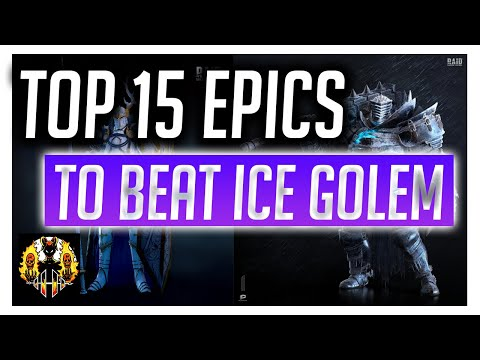 RAID: Shadow Legends | TOP 15 EPICS for ICE GOLEM!
