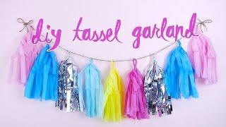 DIY Tassel Garland! | by tashaleelyn