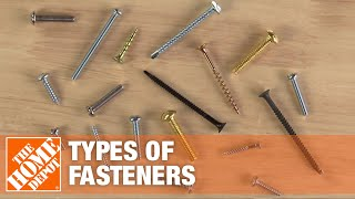 A video reviews the different types of fasteners.