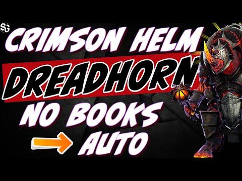 MASSIVE FIND! Auto DT HARD 10 & 50 Dreadhorn w/ Crimson Helm 133speed. | RAID SHADOW LEGENDS
