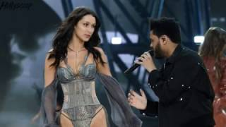 Watch Bella Hadid and The Weeknd's AWKWARD Run-In During Fashion Week