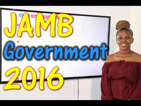JAMB CBT Government 2016 Past Questions 1 - 25