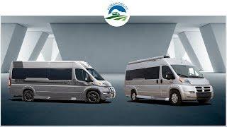 The Last 2 Under 21 Feet Gas Vans with Rear Sofa Bed Layouts | Pleasureway Lexor v Fleetwood IROK
