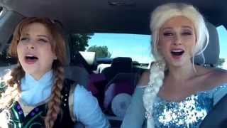 """Elsa and Anna sing """"Love is an Open Door"""""""