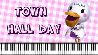 Synthesia [Piano Tutorial] Town Hall Day - Animal Crossing