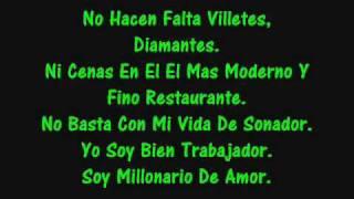 Millonario De Amor Lyrics By Sergio Vega