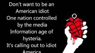 Green Day - American Idiot lyrics [1080p]