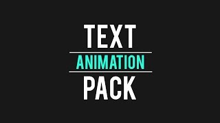 FREE Text Animation Pack - After Effects (Motion Graphics)