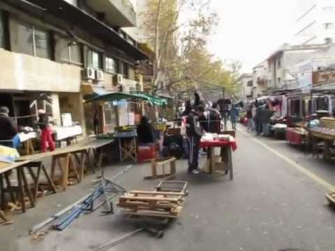 La Feria Tristán Narvaja Flea Market in Montevideo Uruguay