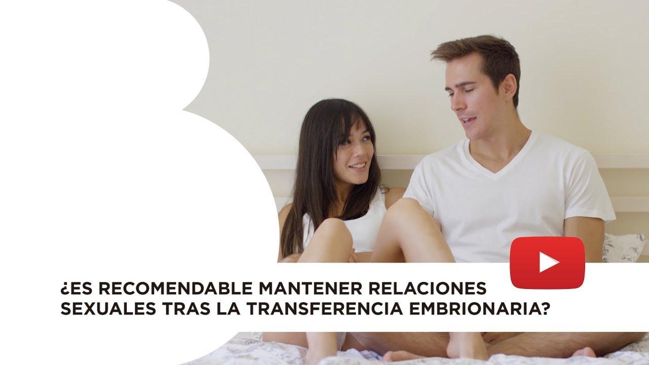Relaciones sexuales tras la transferencia embrionaria