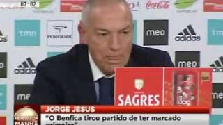 Jorge Jesus depois do jogo com o Porto