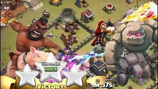 Best Max Town hall 9 (TH9) War Attack Strategy 2017 3 STAR HOG GOLEM ATTACK STRATEGY Clash of clans
