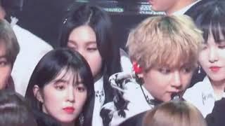 BTS and Red Velvet Vrene moment😍 width=