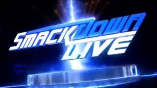 Smackdown Live intro with the Social Outcasts theme.