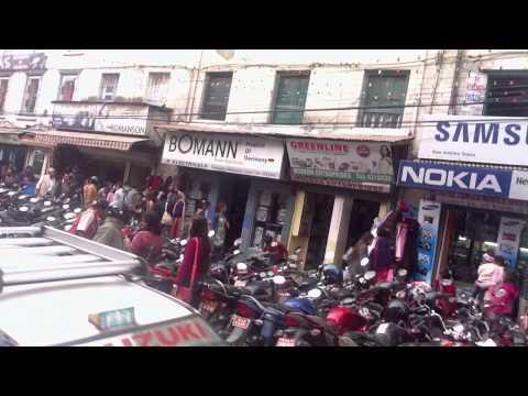 Kathmandu Nepal Dipawali Shopping craze video