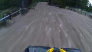 Renegade 1000 Xxc Speed run through a sand road. Talk about arm pump!
