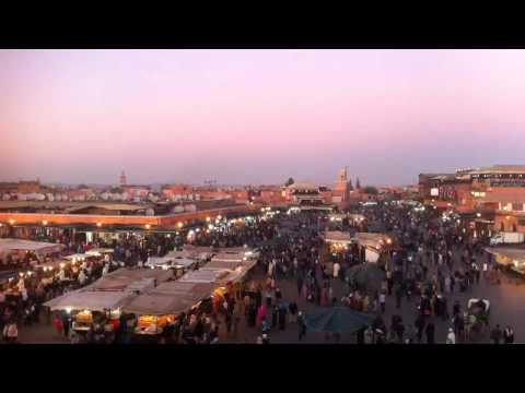 Marrakech – main square time-lapse