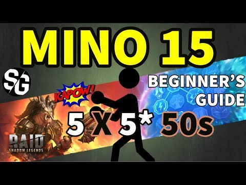 [RAID SHADOW LEGENDS] MINOTAUR 15 - 5* TEAM - REQUESTED VIDEO