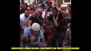 MEEK MILL - Check Video Shoot Altercation In North Philly (BEST VIEW)
