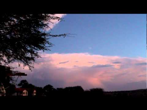 Thunderstorm at Kalahari tented camp