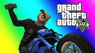 GTA5 Online Funny Moments - Bikers VS RPG!