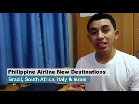 Philippine Airlines will fly to Brazil, South Africa, Italy and Israel