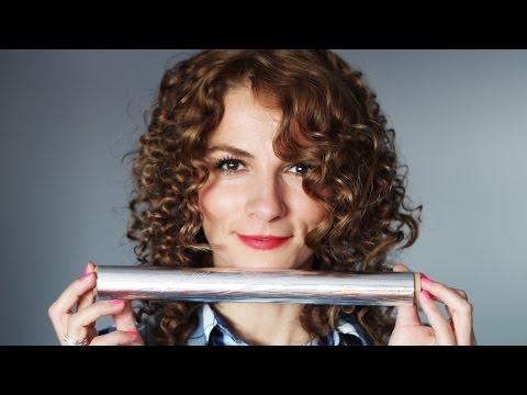 Păr creț cu folie de aluminiu (staniol), fără placă