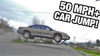 INSANE 50MPH CAR JUMP!!