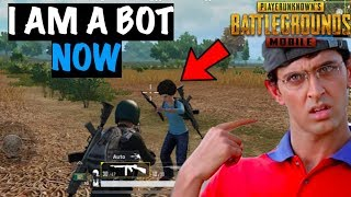 Pretending to be a BOT in PUBG Mobile | Live Insaan