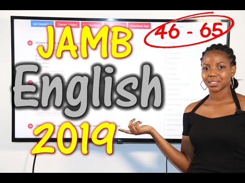 JAMB CBT English 2019 Past Questions 46 - 65