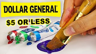 Big Win?! Trying Dollar General's Ridiculously CHEAP Art Supplies...
