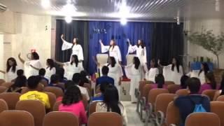 """Jovens Igreja Quadrangular -Damares """"Sacrifício e Adoração""""apresentação de jovens aniversário"""