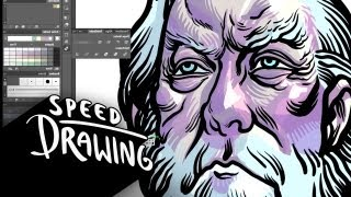 Speed Drawing: The Hunger Games: Catching Fire - President Snow