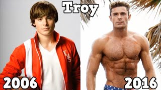 High School Musical Antes y Después 2016