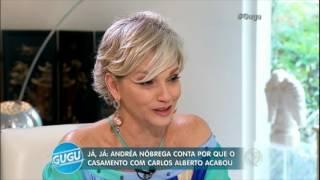 Andréa Nóbrega chora e diz que sente falta da vida com Carlos Alberto