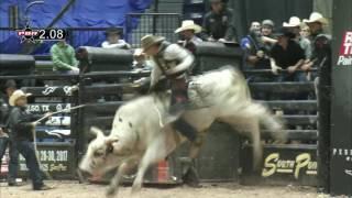 Jorge Valdiviezo rides Ambush for 87 points (PBR)