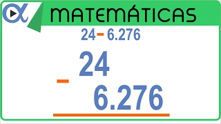 Resta con punto decimal ejemplo 2 de 3   Aritmética - Vitual