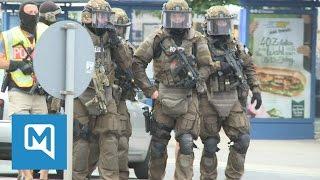 Amoklauf in München: SEK patrouilliert vor dem OEZ
