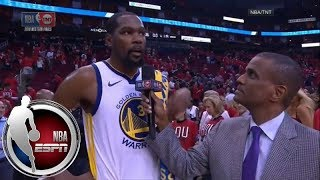 Kevin Durant on 37-point outing in Game 1 win over Rockets: 'I'm better' when I'm aggressive   ESPN