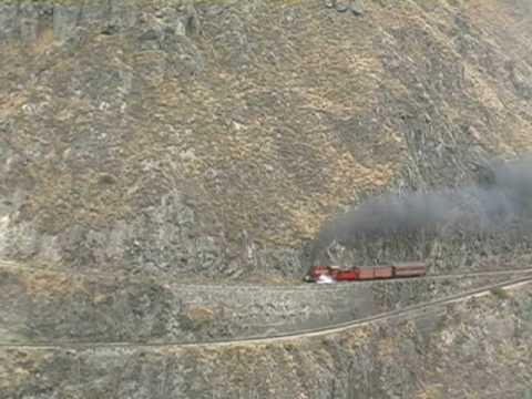 Steam Train on the Devil's Nose Switchback, Ecuador
