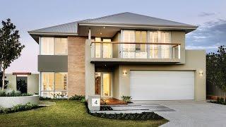 Casa moderna de dos pisos