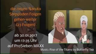 23 neue Naruto Shippuden Folgen ab 30.Januar 2017 auf ProSieben MAXX