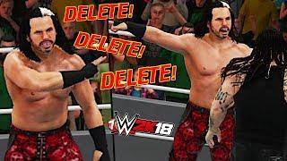 WWE 2K18 - HOW TO DO THE DELETE TAUNT WITH #WOKEN MATT HARDY! (#WWE2K18 Tutorial)