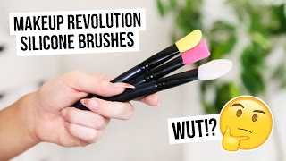 TESTING NEW MAKEUP REVOLUTION SILICONE BRUSHES I COCOCHIC