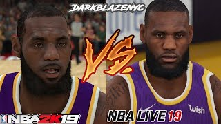 NBA 2K19 Vs. NBA Live 19 Face Graphics Comparison Including Rookies (PS4, XBOX One, PC)