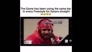 The Game has been using the same bar in every Freestyle for 5years straight